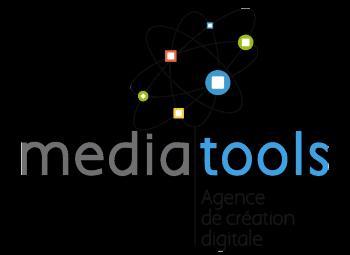 Logo de l'agence Mediatools, spécialisée dans le développement de sites éditoriaux